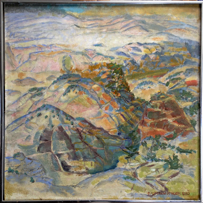 Untitled (New Mexico Landscape), Gustave Baumann and John McHugh, Matthews Gallery