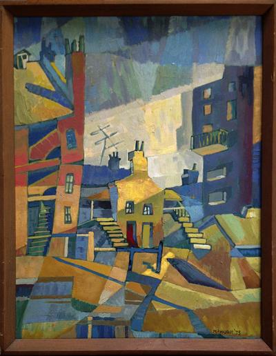 (Untitled) Cubist Cityscape, John McHugh, Matthews Gallery