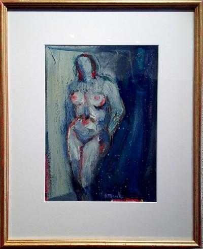 """Blue Nude"", Harold Frank, Matthews Gallery"