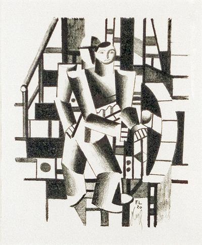 """""""Composition aux deux Personnages"""", Fernand Leger, Matthews Gallery"""