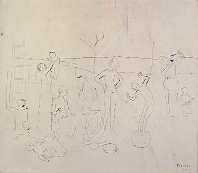 """Les Saltimbanque"", Pablo Picasso, Matthews Gallery"