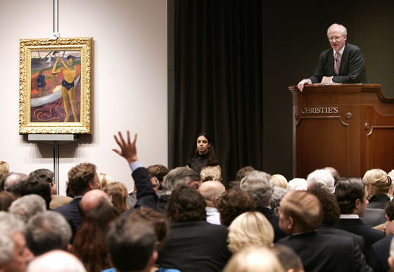 History of the art auction- Matthews Gallery blog