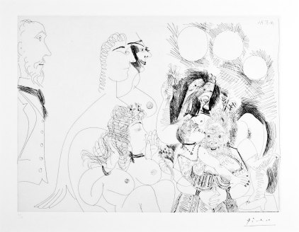 Pablo Picasso- Untitled (From the 156 Suite, 16 mai 1971)- Matthews Gallery auction