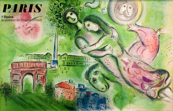March Chagall- L'Opera Poster (1964)- Matthews Gallery auction