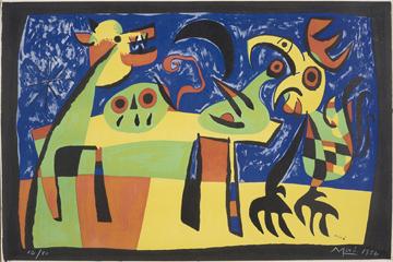Joan Miro- Dog Barking at the Moon- Matthews Gallery auction