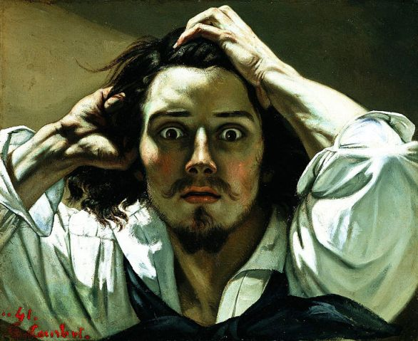 Gustave Courbet- Self-Portrait (The Desperate Man)- Matthews Gallery blog