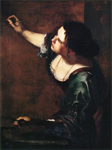 Self portrait, Artemisia Gentileschi, Matthews Gallery blog