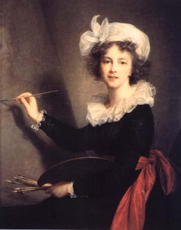 Self portrait, Louise Elisabeth Vigee Le Brun, Matthews Gallery blog