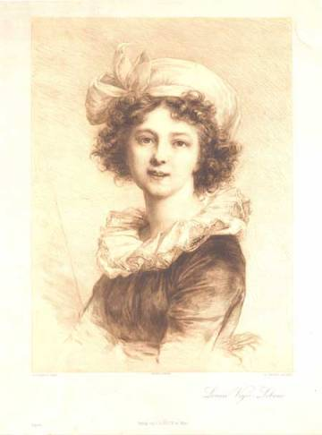 Self portrait, Louise Elisabeth Vigee Le Brun, Matthews Gallery