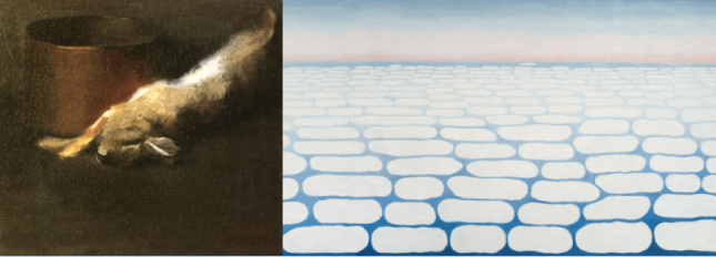 """Early and Late Works: Georgia O'Keeffe's """"Untitled (Dead Rabbit with Copper Pot)"""" (1908) and """"Sky Above Clouds IV"""" (1965)"""