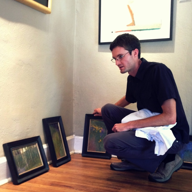 David Grossmann looks over his new work- Matthews Gallery blog