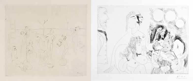 "Early and Late Works: Pablo Picasso's ""Les Saltimbanques"" (1905) and ""Untitled (From the 156 Suite, 16 mai 1971)"""