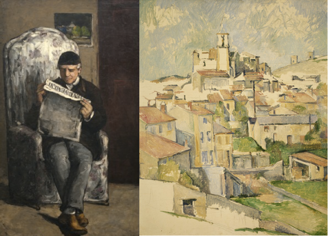 """Early and Late Works: Paul Cezanne's """"The Artist's Father, Reading 'L'Événement'"""" (1866) and """"Gardanne"""" (1885-86)"""