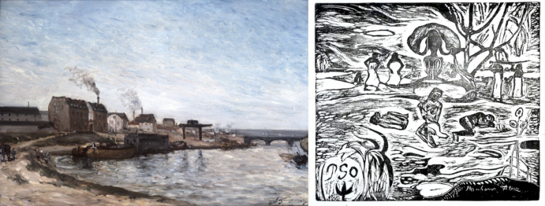 "Early and Late Works: Paul Gauguin's ""La Seine au Pont de Grenelle"" (   ) and ""Mahana Atua (The Day of God)"" (   )"