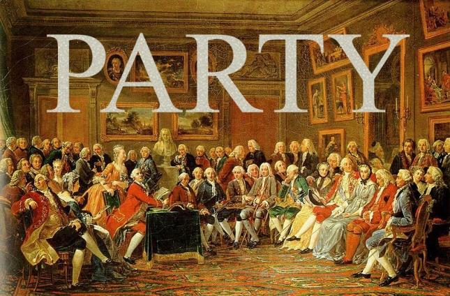 Salon de Madame Geoffrin, where all the good parties went down in 18th century France - Matthews Gallery blog