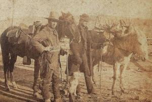 Charles Partridge Adams and Alexander Phimister Proctor in Colorado, early 1880s