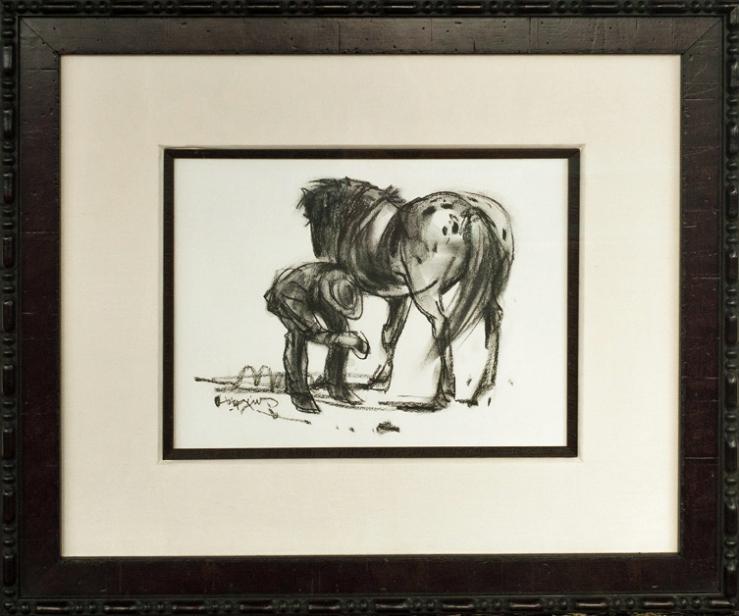 Doug Higgins- Horse & Cowboy- Matthews Art Auctions