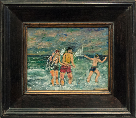 Francesco Spicuzza- Children at Beach- Matthews Art Auctions