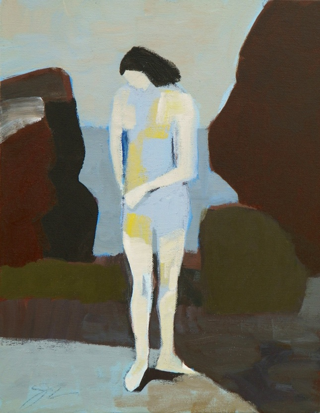 Jamie Chase- Bather by the Sea- Artfact Auctions