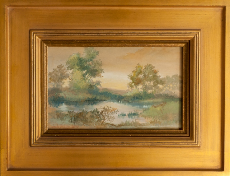 Charles Partridge Adams- Untitled (Landscape)- Matthews Art Auctions