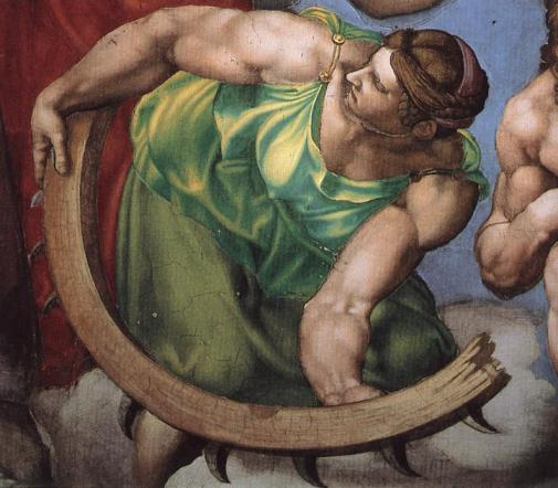 Michelangelo- The Last Judgment detail- Matthews Gallery blog
