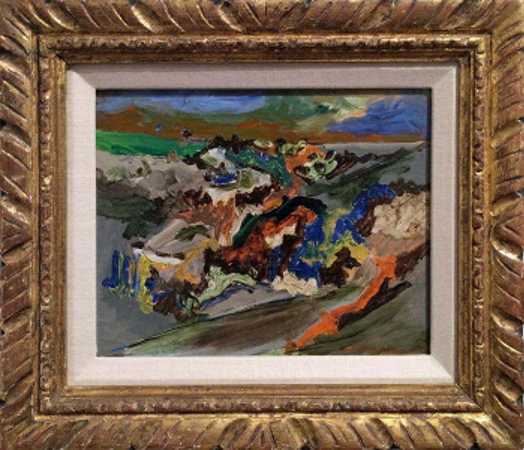 Jean-Pierre Jouffroy- Untitled Modernist Landscape- Matthews Gallery Blog