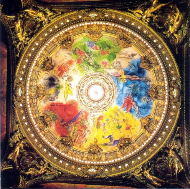Marc Chagall's Ceiling at the Paris Opera- Matthews Gallery Blog