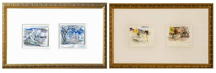 Fremont Ellis- Watercolor Diptychs- Matthews Gallery Blog