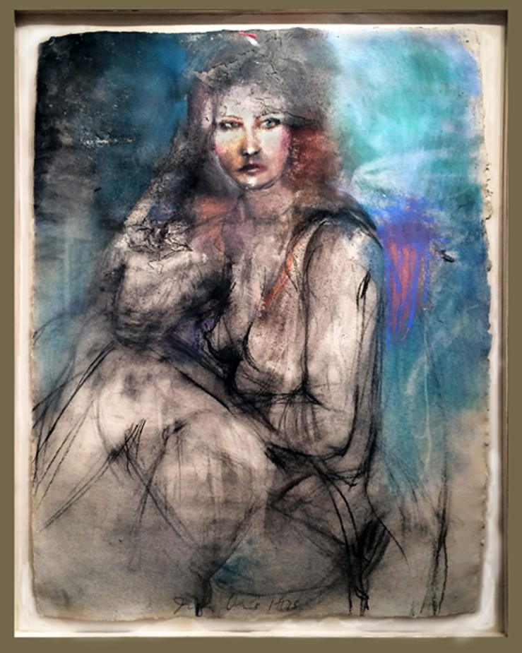 Jim Dine- A Lady Sitting Drawing- Matthews Gallery Blog
