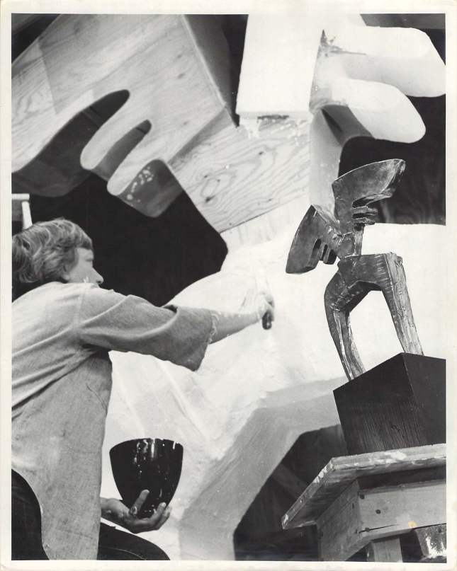 Hannah Holliday Stewart in her studio- Matthews Gallery