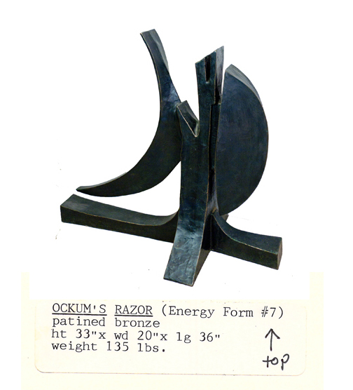Hannah Holliday Stewart- Ockum's Razor Sculpture with Original Typewritten Label- Matthews Gallery Blog