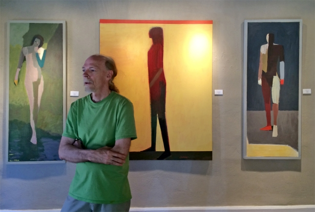 Jamie Chase with new artwork for his POV exhibition- Matthews Gallery blog