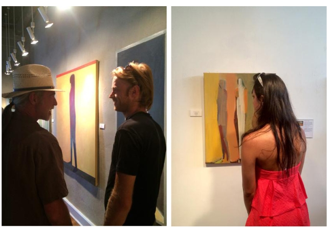 Visitors at Jamie Chase's POV exhibition- Matthews Gallery blog