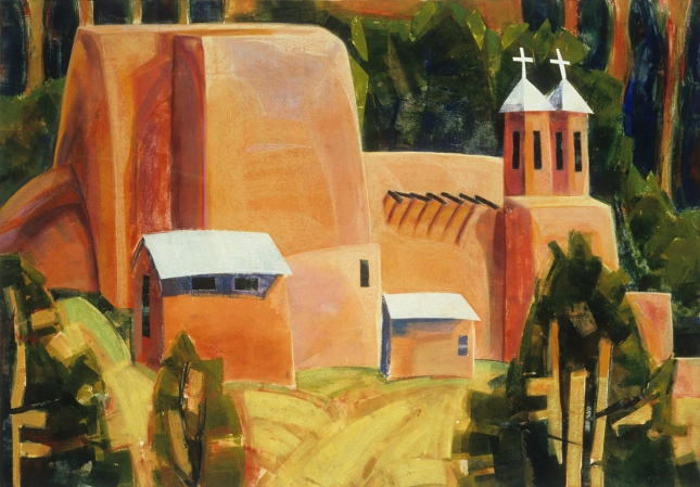 Alice Webb- Ranchos de Taos Church- Matthews Gallery