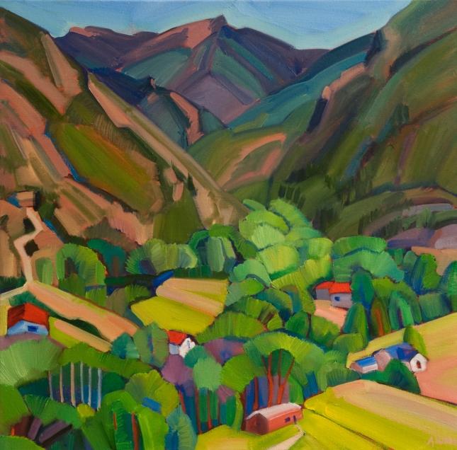 Alice Webb- Overlooking Valdez- Matthews Gallery