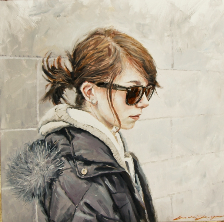 Eric G. Thompson- Coffee Shop Girl- Matthews Gallery blog