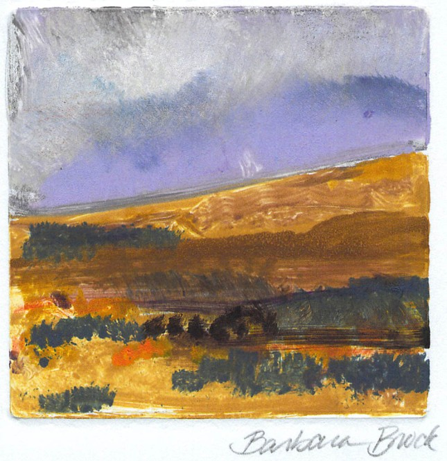Barbara Brock- Untitled Monotype- Matthews Gallery blog