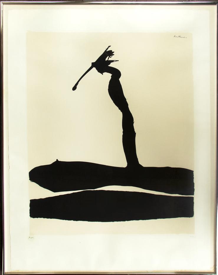 Robert Motherwell- Africa 4- Silkscreen- Matthews Gallery Blog