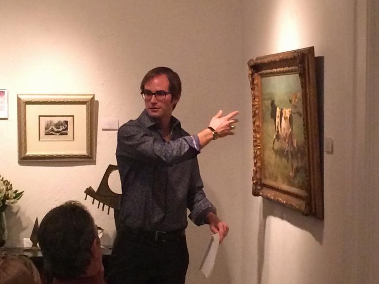 Art Conservator Matt Horowitz at Collectors Forum- Matthews Gallery