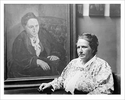 Gertrude Stein with her famous Picasso portrait- Matthews Gallery blog