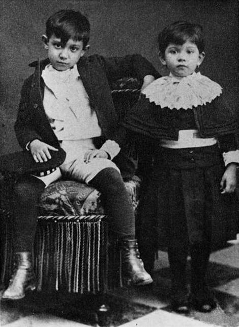 Pablo Picasso and sister Lola- Matthews Gallery blog