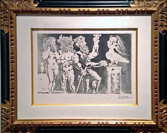 Pablo Picasso- Personnages Masques et Femme Oiseau- Matthews Gallery blog