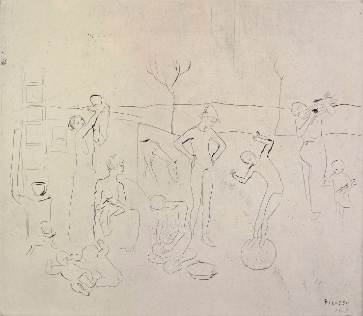 Pablo Picasso- Les Saltimbanque- Matthews Gallery blog