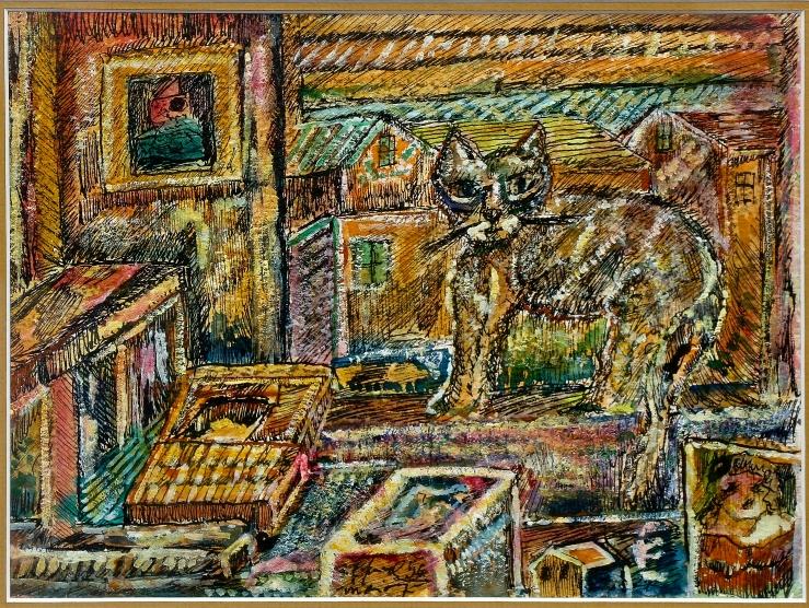 Alfred Morang- Mitzi Cat- Matthews Gallery Blog