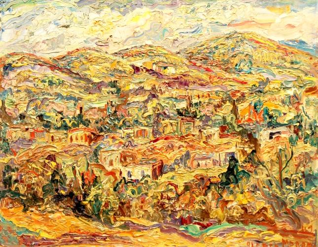 Alfred Morang- Santa Fe Hillside 1949- Matthews Gallery Blog