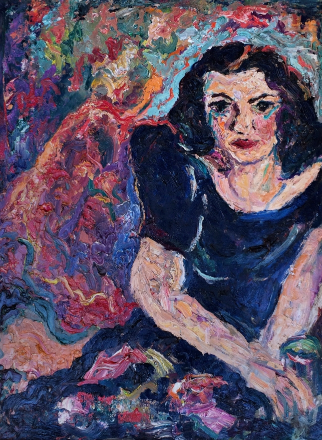 Alfred Morang- Untitled Portrait of a Woman 1950- Matthews Gallery Blog