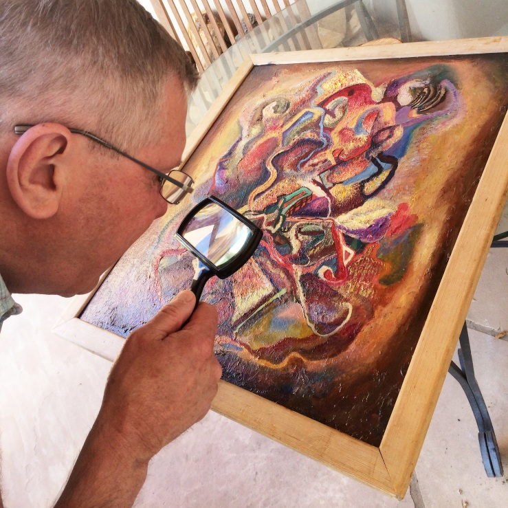 Paul Parker Inspects a Painting by Alfred Morang- Matthews Gallery Blog