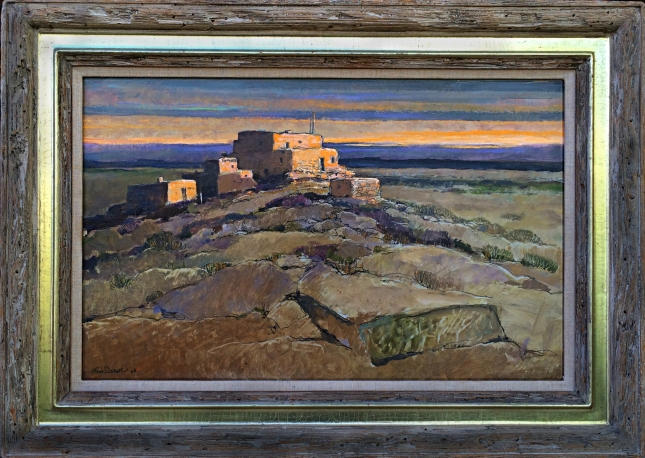 Eric Sloane- Hopi Country- Oil on Panel- Matthews Gallery Blog