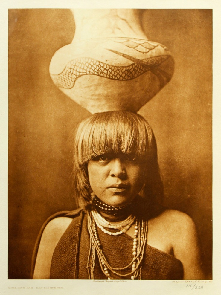 Edward S Curtis- Girl and Jar Photogravure- Matthews Gallery Blog