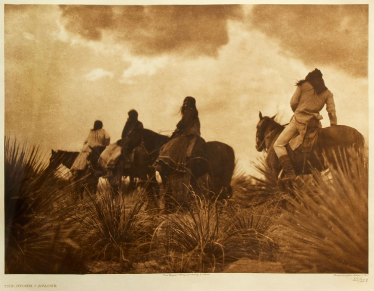 Edward S Curtis- The Storm-Apache Photogravure- Matthews Gallery Blog